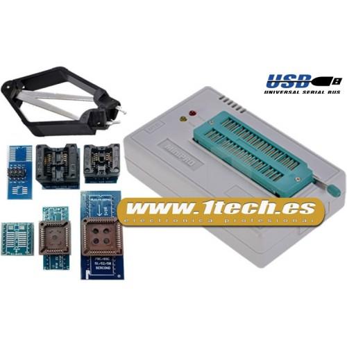 Programador eeprom USB universal TL866CS y 6 adaptadores