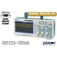Hantek DSO5202B con salida VGA