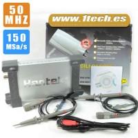 Hantek 6052BE Osciloscopio USB 50 Mhz
