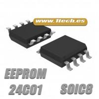 Memoria 24C01 EEPROM (SOIC8) 1k