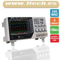 Hantek DSO4204B Osciloscopio 4 Canales / 200MHZ