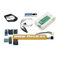 Programador eeprom USB universal TL866A y 7 adaptadores