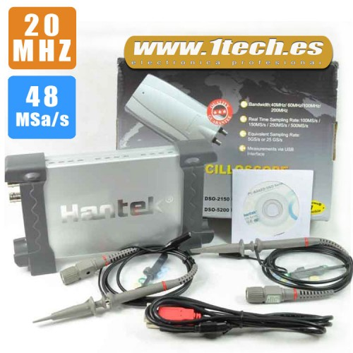 Hantek 6022BE Osciloscopio USB