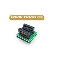 Adaptador SOP28  a DIP28  para programador eprom / eeprom