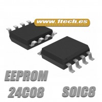 Memoria 24C08 EEPROM (SOIC8) 8k