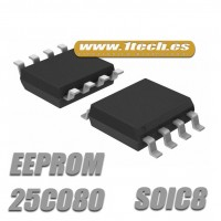 Memoria 25C080 EEPROM (SOIC8) 8k