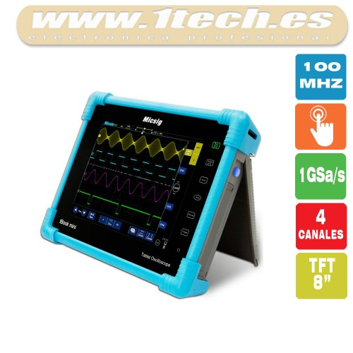 Micsig tBook Mini 100Mhz 4 Canales Osciloscopio Portatil Tactil