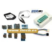 Programador eeprom USB universal TL866A y 9 adaptadores