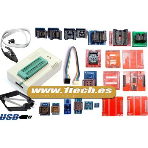 Programador eeprom USB universal TL866A y 22 adaptadores