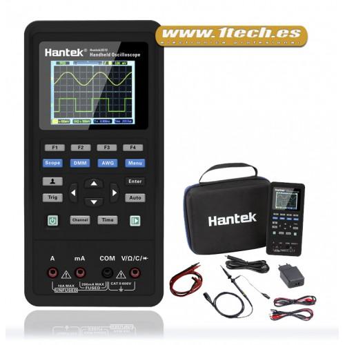 Hantek 2D72 Osciloscopio Portatil Mini con Multimetro y Generador AWG