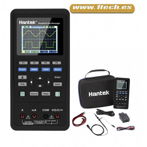 Hantek 2D42 Osciloscopio Portatil Mini con Multimetro y Generador AWG