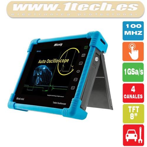 Micsig ATO1104 100Mhz 4 Canales Automoción - Osciloscopio Portátil Táctil