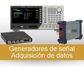 Generadores de señal - Adquisición de datos