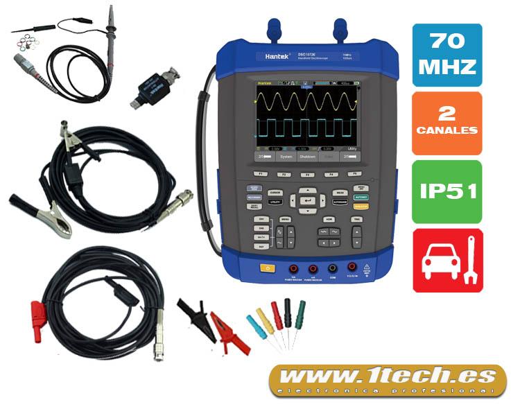 Osciloscopio portatil 1072e para AUTOMOCIÓN - www.1tech.es
