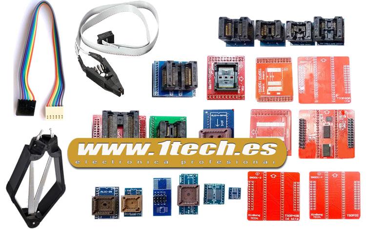 Programador TL866A con ICSP y 22 adaptadores
