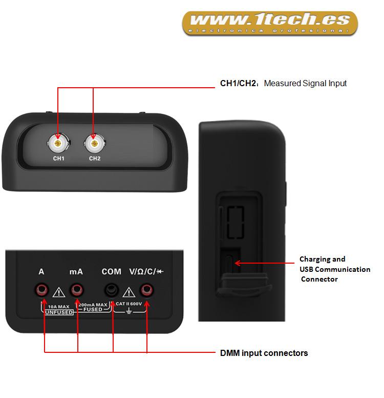 Mini Osciloscopio portatil Hantek 2D42