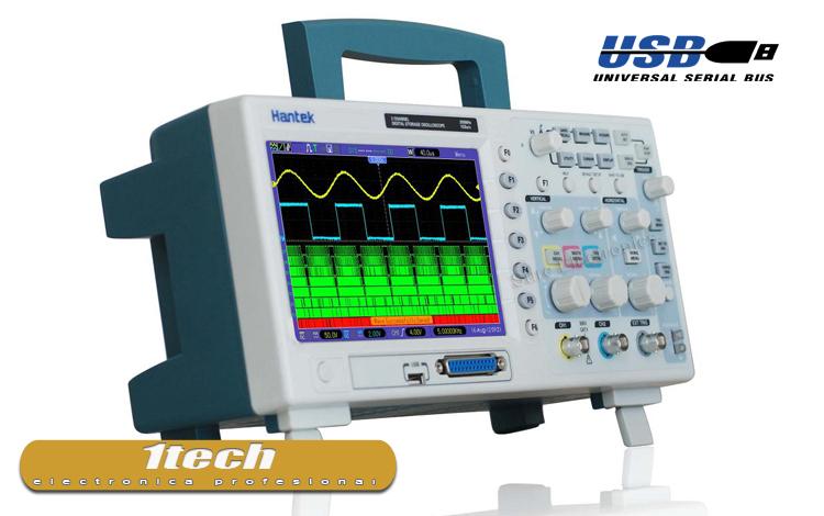 Osciloscopio 200 MHZ con analizador logico - www.1tech.es