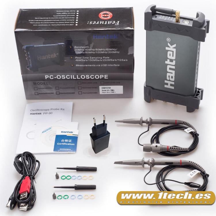 Hantek iDSO1070A Osciloscopio WIFI inalambrico con bateria - www.1tech.es