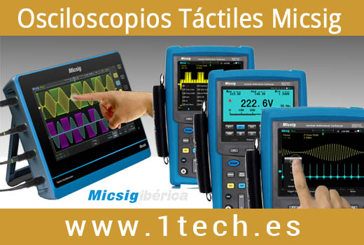 osciloscopio portatil tactil micsig tablet